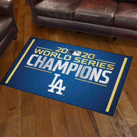 MLB Los Angeles Dodgers 2020 World Series Champions 3 X 5 Ft. Area Rug - Bed, Bath, And My Team