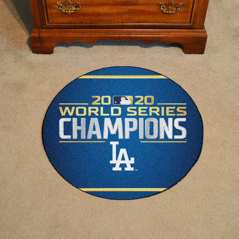 MLB Los Angeles Dodgers 2020 World Series Champions Baseball Mat - Bed, Bath, And My Team