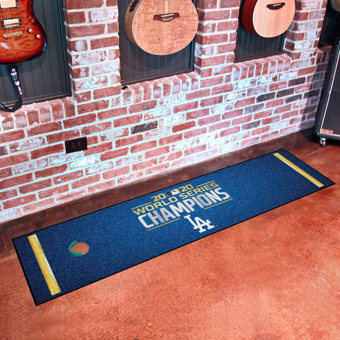 MLB Los Angeles Dodgers 2020 World Series Champions Putting Green Mat - Bed, Bath, And My Team