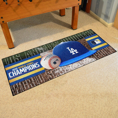 MLB Los Angeles Dodgers 2020 World Series Champions Carpet Runner Rug - Bed, Bath, And My Team