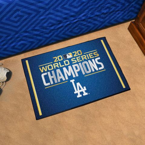 MLB Los Angeles Dodgers 2020 World Series Champions STARTER Rug - Bed, Bath, And My Team