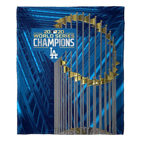 MLB Los Angeles Dodgers 2020 World Series Champions Silk Touch Blanket - Bed, Bath, And My Team