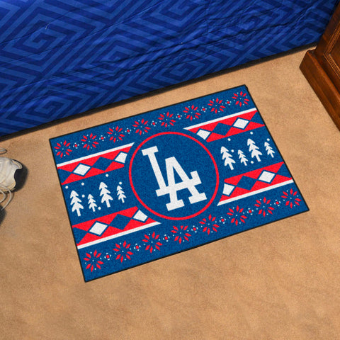 Los Angeles Dodgers Holiday Sweater Rug