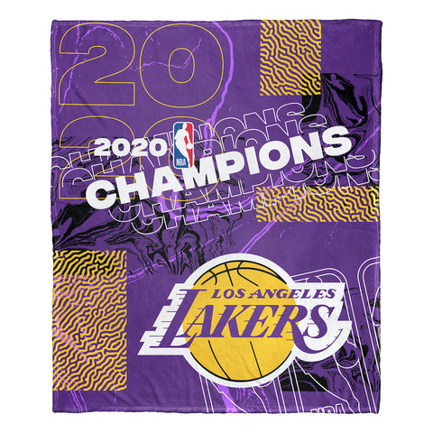 NBA Los Angeles Lakers 2019-20 NBA Finals Champions Silk Touch Blanket
