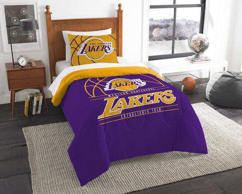 Los Angeles Lakers twin comforter and pillow sham