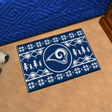 Los Angeles Rams Holiday Sweater Rug