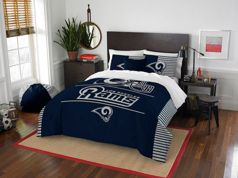 Los Angeles Rams queen/full comforter and 2 shams
