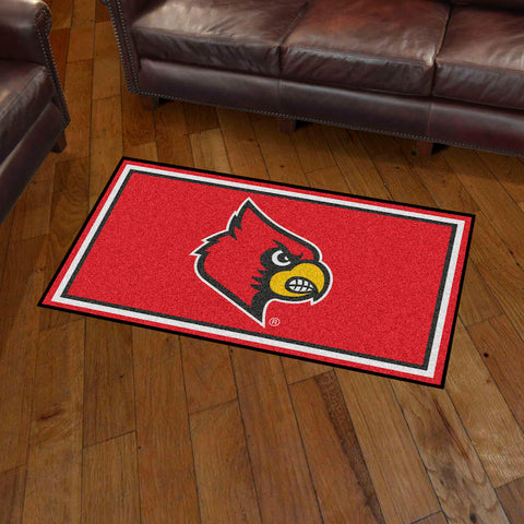 NCAA Louisville Cardinals 3 X 5 Ft. Plush Area Rug - Bed, Bath, And My Team