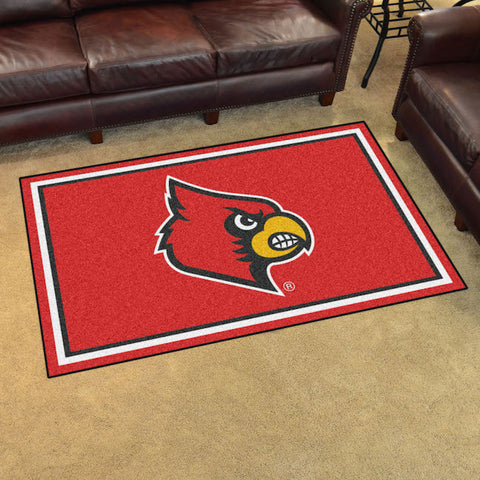 NCAA Louisville Cardinals 4 X 6 Ft. Area Rug - Bed, Bath, And My Team
