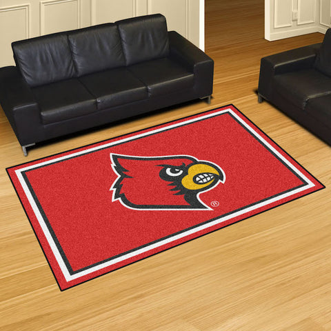 NCAA Louisville Cardinals 5 X 8 Ft. Area Rug - Bed, Bath, And My Team