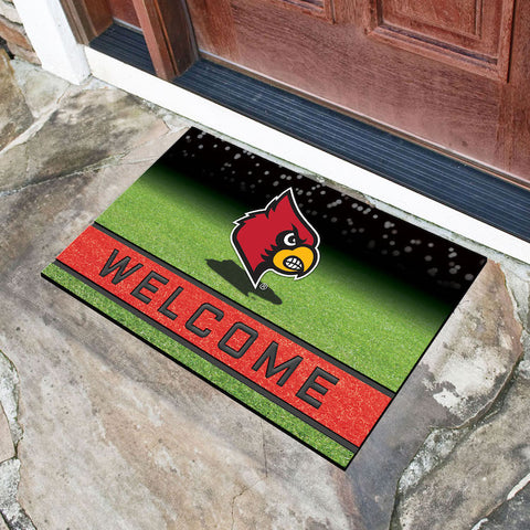 NCAA Louisville Cardinals Recycled Rubber CRUMB Doormat - Bed, Bath, And My Team