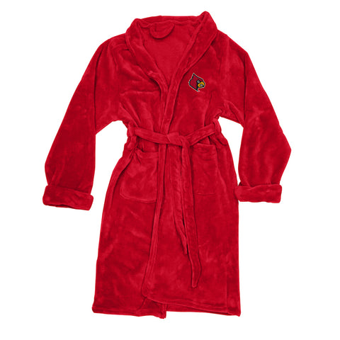 NCAA Louisville Cardinals Silk Touch Mens Bath Robe - Bed, Bath, And My Team