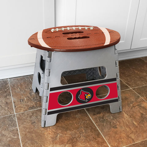 NCAA Louisville Cardinals Folding Step Stool - Bed, Bath, And My Team