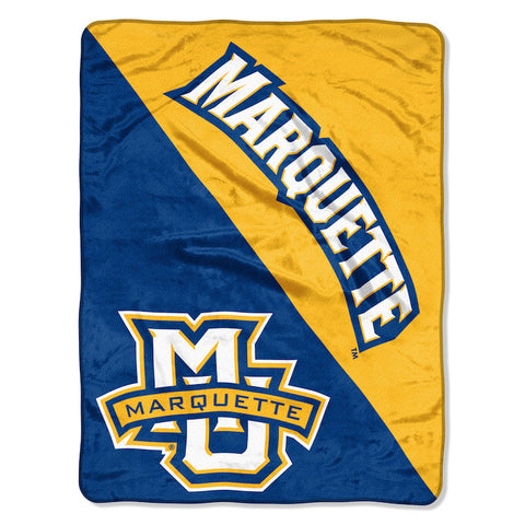 NCAA Marquette Golden Eagles Micro Raschel Throw - Bed, Bath, And My Team
