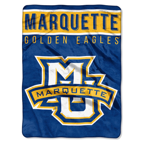 NCAA Marquette Golden Eagles 60 x 80 Large Plush Raschel Throw Blanket - Bed, Bath, And My Team
