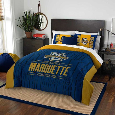 NCAA Marquette Golden Eagles Queen/Full Comforter and Sham Set - Bed, Bath, And My Team
