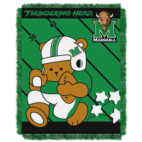 NCAA Marshall Thundering Herd Baby Blanket - Bed, Bath, And My Team