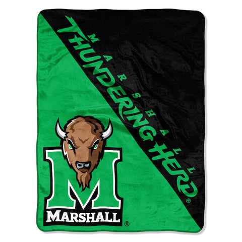 NCAA Marshall Thundering Herd Micro Raschel Throw - Bed, Bath, And My Team