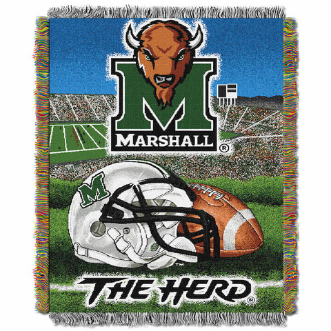NCAA Marshall Thundering Herd HOME FIELD ADVANTAGE Tapestry - Bed, Bath, And My Team