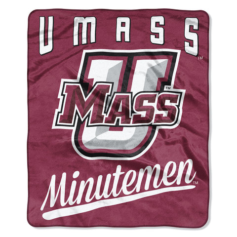 NCAA Massachusetts Minutemen 50 x 60 Alumni Raschel Throw Blanket - Bed, Bath, And My Team