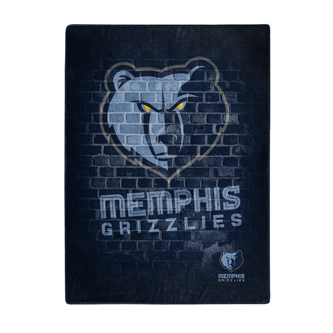 Memphis Grizzlies large plush blanket