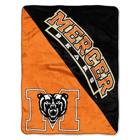 NCAA Mercer Bears Micro Raschel Throw - Bed, Bath, And My Team