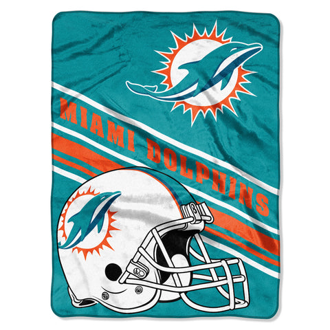 Miami Dolphins large plush blanket