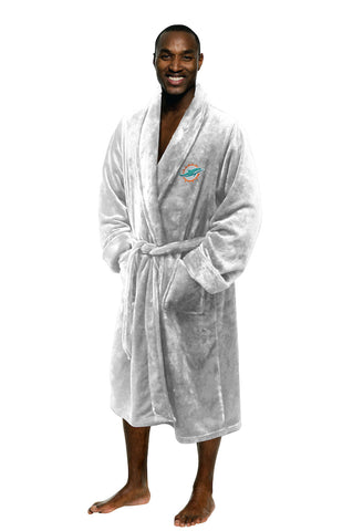 Miami Dolphins Bath Robe Mens Large