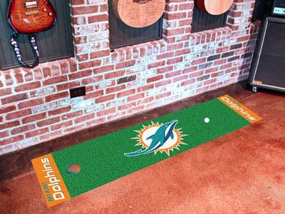 Miami Dolphins Golf Putting Green Mat