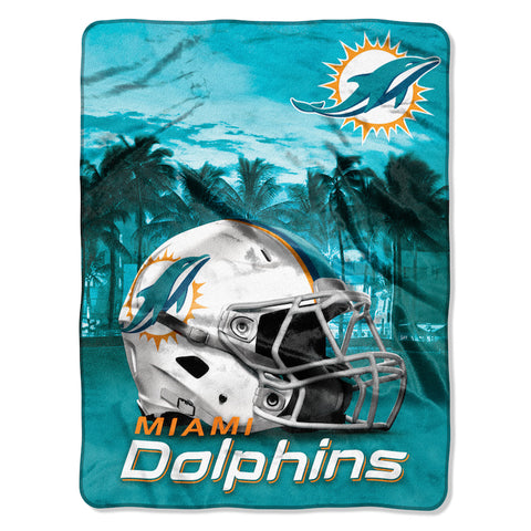 Miami Dolphins large silk touch blanket