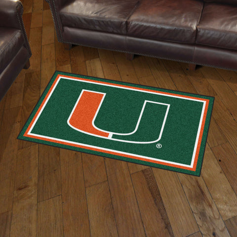 NCAA Miami Hurricanes 3 X 5 Ft. Plush Area Rug - Bed, Bath, And My Team