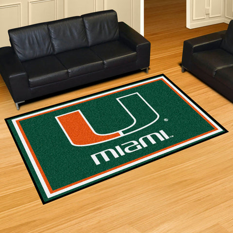 NCAA Miami Hurricanes 5 X 8 Ft. Area Rug - Bed, Bath, And My Team