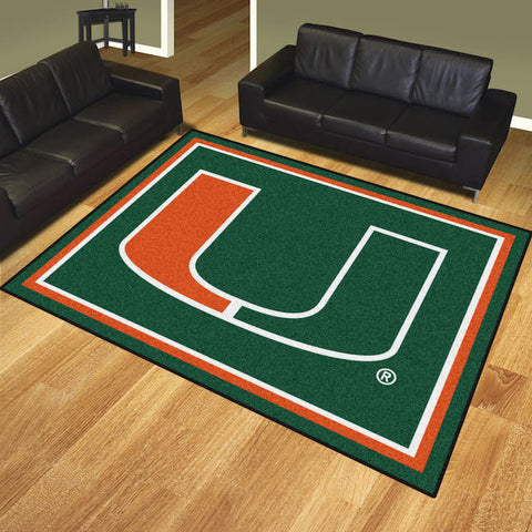 NCAA Miami Hurricanes 8 X 10 Ft. Area Rug - Bed, Bath, And My Team