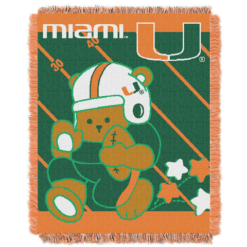 NCAA Miami Hurricanes Baby Blanket - Bed, Bath, And My Team