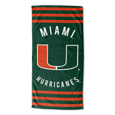 NCAA Miami Hurricanes Beach Towel - Bed, Bath, And My Team