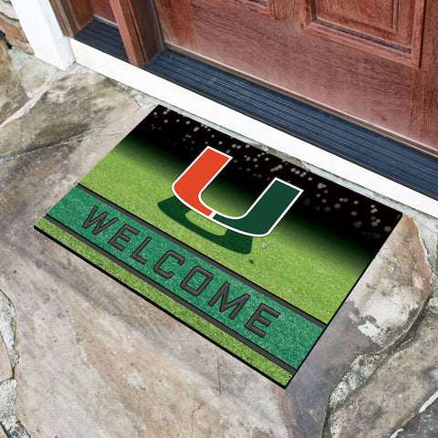 NCAA Miami Hurricanes Recycled Rubber CRUMB Doormat - Bed, Bath, And My Team