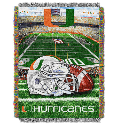 NCAA Miami Hurricanes HOME FIELD ADVANTAGE Tapestry - Bed, Bath, And My Team
