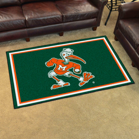 NCAA Miami Hurricanes IBIS 4 X 6 Ft. Area Rug - Bed, Bath, And My Team