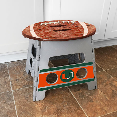 NCAA Miami Hurricanes Folding Step Stool - Bed, Bath, And My Team