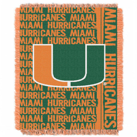 NCAA Miami Hurricanes Woven Decorative Tapestry - Bed, Bath, And My Team