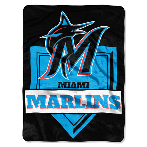 Miami Marlins large plush blanket