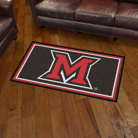 NCAA Miami of Ohio Red Hawks 3 X 5 Ft. Plush Area Rug - Bed, Bath, And My Team