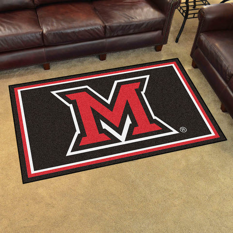 NCAA Miami of Ohio Red Hawks 4 X 6 Ft. Area Rug - Bed, Bath, And My Team