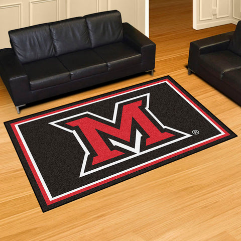 NCAA Miami of Ohio Red Hawks 5 X 8 Ft. Area Rug - Bed, Bath, And My Team