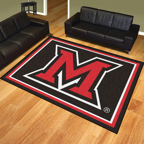 NCAA Miami of Ohio Red Hawks 8 X 10 Ft. Area Rug - Bed, Bath, And My Team