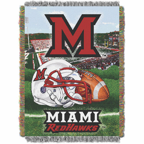 NCAA Miami of Ohio Red Hawks HOME FIELD ADVANTAGE Tapestry - Bed, Bath, And My Team