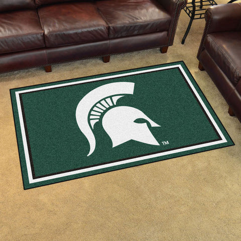 NCAA Michigan State Spartans 4 X 6 Ft. Area Rug - Bed, Bath, And My Team
