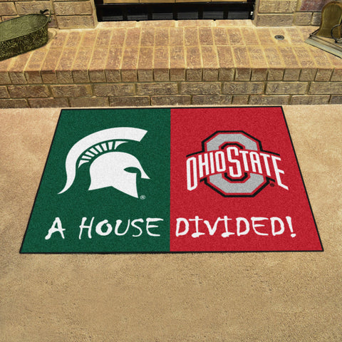 Michigan State Spartans Ohio State Buckeyes Rivalry Rug