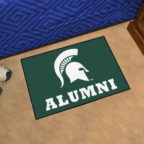 NCAA Michigan State Spartans ALUMNI Starter Rug - Bed, Bath, And My Team
