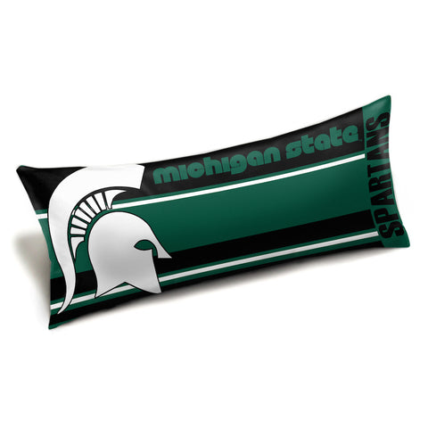 NCAA Michigan State Spartans King Size Body Pillow - Bed, Bath, And My Team